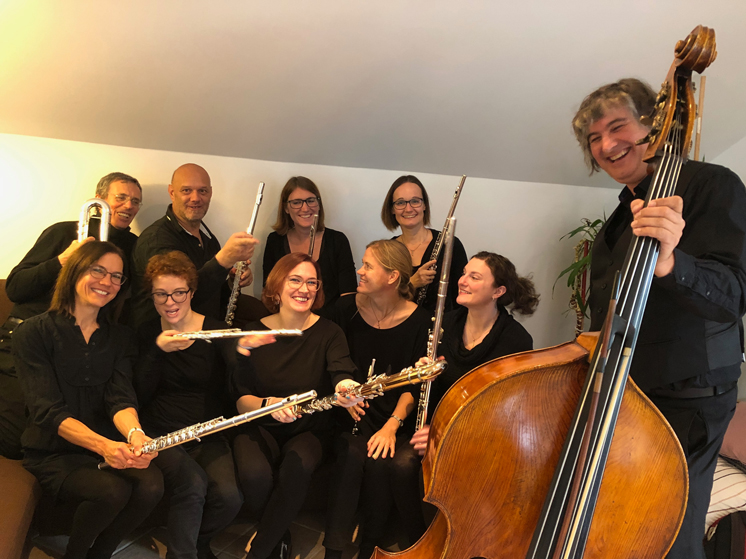Konzert Probe Flutes in Concert