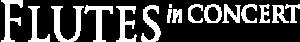 Flutes in Concert Logo Weiß